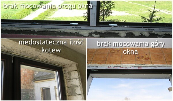 błędy montażowe okien podgląd 2 finestre